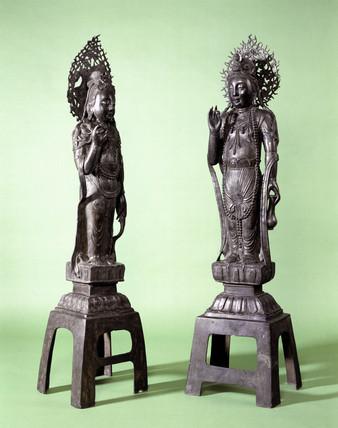 Two bronze statues of Guan Yin, Chinese, 1000-1800.
