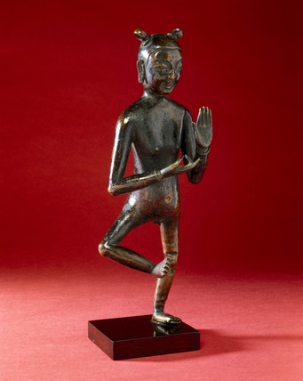 Bronze acupuncture figure, Chinese, 16th-18th century.
