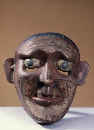 Painted face mask, Sri Lankan, 1771-1920.