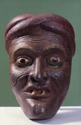 Painted face mask, Sri Lankan, 1771-1920.