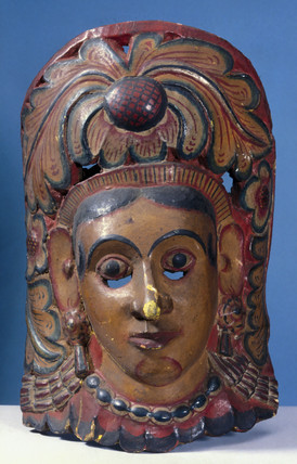 Painted face mask, Sinhalese from Sri Lanka, 1771-1920.