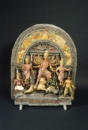 Hindu shrine, probably Bengali, 19th century.