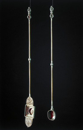 Buddhist ceremonial ladles, Tibetan, 18th-19th century.