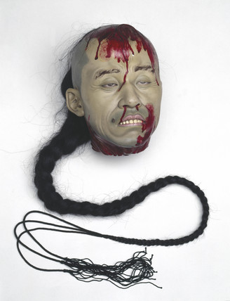Head of an executed Chinese criminal, English, 1910-1922.