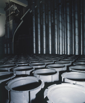 View of Advanced Gas-cooled Reactor (AGR), 1980s.