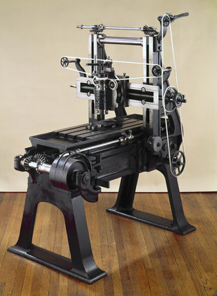 Whitworth's self-acting screw feed reversing tool box planing machine, 1842.