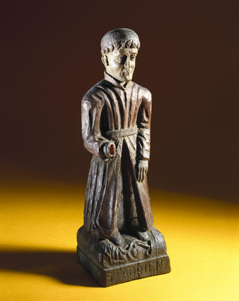Statue of St Adrian, French, 19th century.