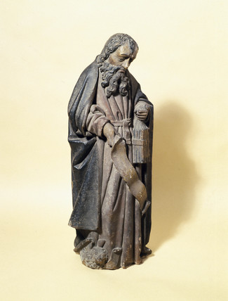 Terracotta statue of St Antonio, Spanish or Italian, early 16th century.