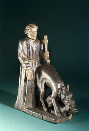 Statue of St Tugean, 18th or 19th century.