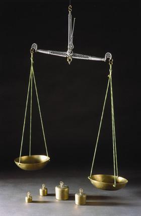 Measuring balance, Persian, 1700-1900.