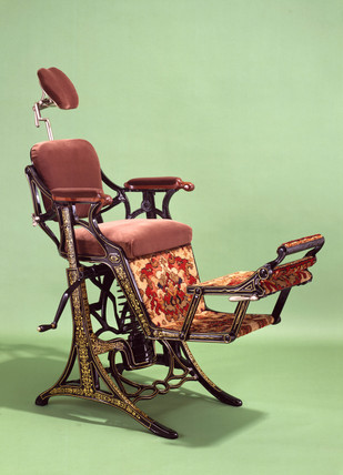 'Improved Swinging' dental chair, English, 1885.