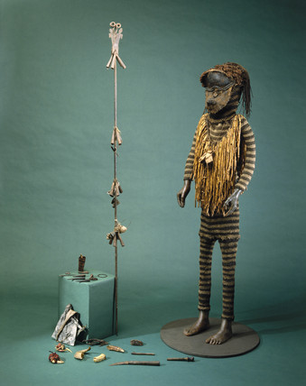 Medicine man's outfit, African, c 1890-1920.