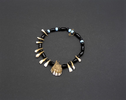 Medicine man's amuletic necklace, Apache, United States.