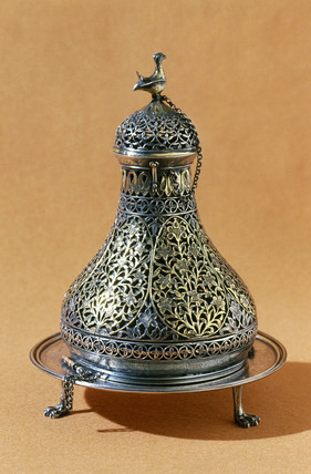Silver incense burner, Persian, c 1750-1900.