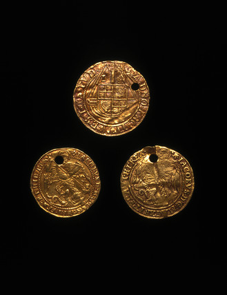 Jacobean touchpieces, English, 1610-1620.