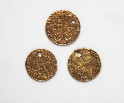 Jacobean touchpieces, English, 1610-1620.