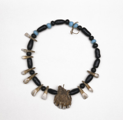 Apache medicine man's amuletic necklace, American.