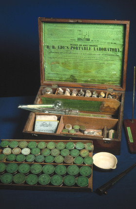 R B Ede's portable laboratory, English, 1840-1900.