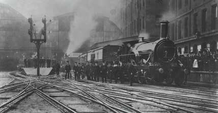 The last broad gauge through train leaving Paddington, 20 May 1892.