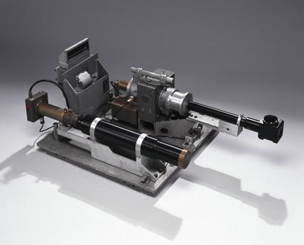 Prototype laser range finder, c 1962.