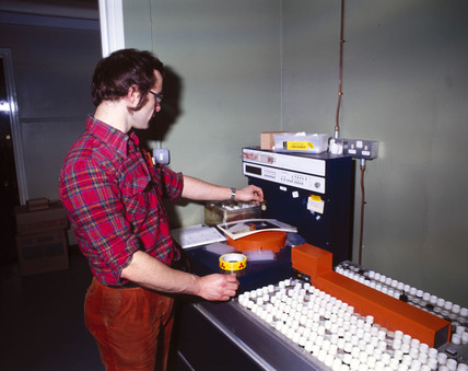 Haematology laboratory, 1981.
