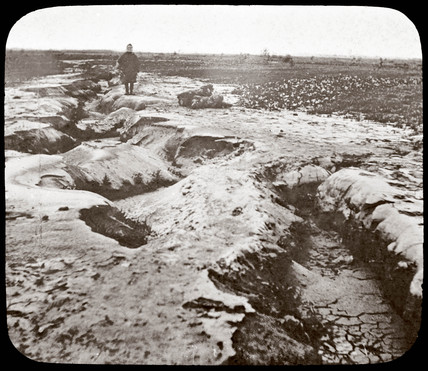 Earthquake rift at the surface, 1876.