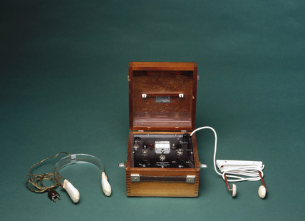 Ectonustim 3 ECT machine with scalp electrodes, English, 1958-1965.