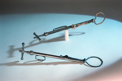 Two castration devices, late 19th to early 20th century.