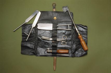 Castrating instrument set, 1866-1900.