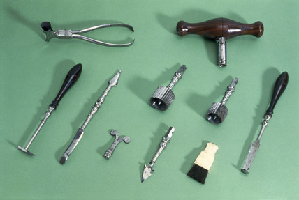 Veterinary instruments.