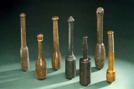 Group of bloodsticks, 1750-1850.