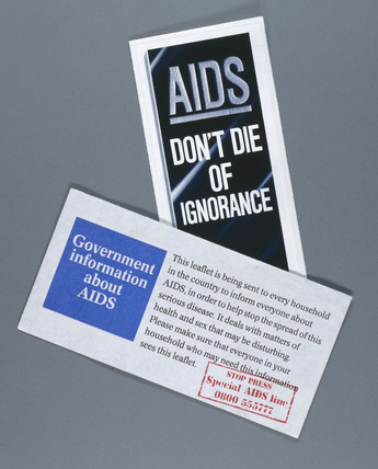 Government AIDS awarenes leaflets, 1987.