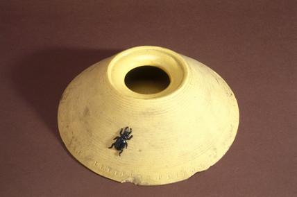 Earthenware beetle trap, c 1851-1900.