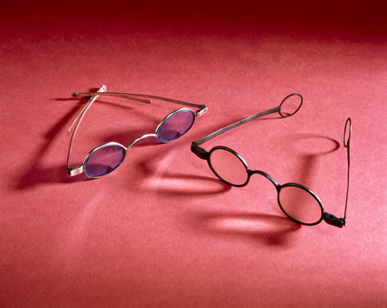 Two pairs of spectacles, English, mid 18th-19th century.