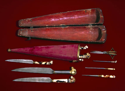 Surgical instrument set, Persian, 18th century.