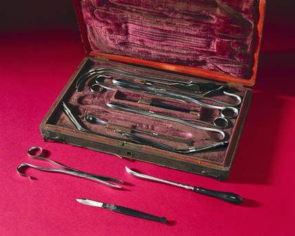 Lithotomy set, English, 1780-1820.