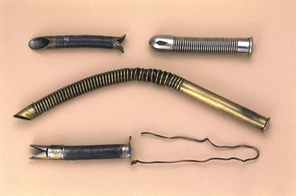 Endotracheal tubes, probably British, late 19th century.