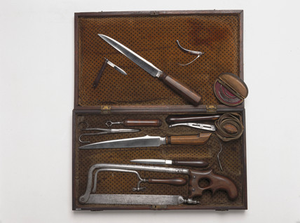 Case of amputation instruments, Scottish, late 18th century.