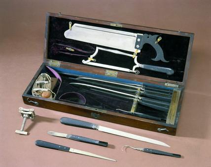 Amputation set, 19th century.