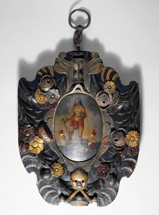 Barber-surgeon's sign, English, 1680-1830.
