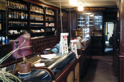 Mr Gibson's Pharmacy in Hexham, Northumberland, 19th century.