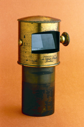 Turret mechanism from English tent type camera obscura, c 1850s.