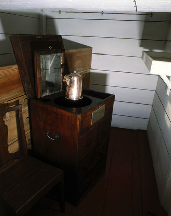 Surgeon's cabin, HMS Victory, 19th century.