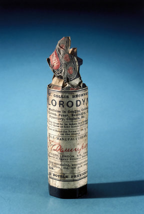 Bottle of Dr J Collis Browne's chlorodyne drops, English, late 19th century.
