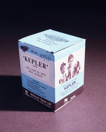 Kepler cod liver oil with malt extract, 1880-1930.