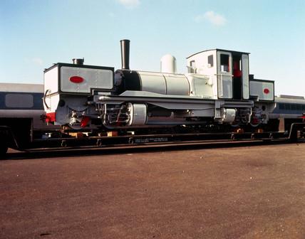 Tasmanian Railways 0-4-0 Garrett locomotive, 1909.