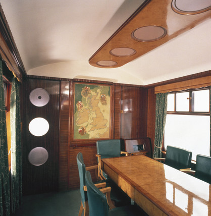 Interior of Royal Saloon, Great Western Railway carriage no 9006, 1945.