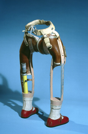 Lower limbs, for thalidomide child, 1979-81.
