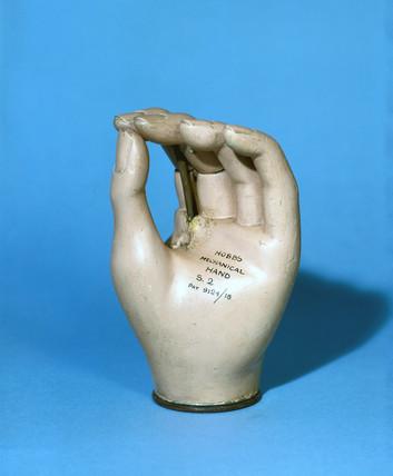 Prosthetic hand, 1979-81.