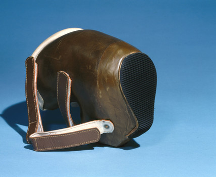 Child's orthopaedic boot, 1979-81.